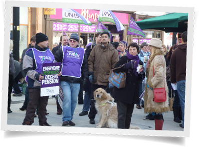 Pervez standing up for the rights of Unison members